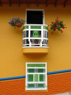 Nice colorful houses, via Flickr. Jericó, Antioquia, CO