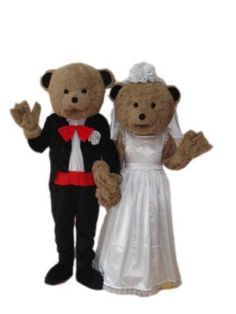 Wedding Teddy Bear Plush Adult Mascot Costume [#UDC4063]