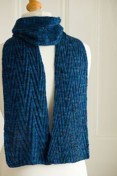 Free knitting pattern for Reversible Chevron Scarf and more chevron knitting patterns