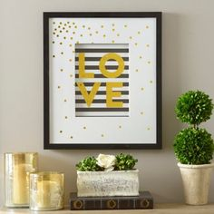 Gold Luxe Love Framed Art Print | Kirklands
