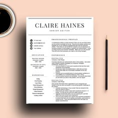 Resume Review Teacher Resume Template For Word  Professional Resume Design With