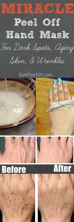 DIY Peel Off Hand Mask