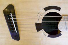 Short multiscale, medium-bodied acoustic in flame redwood and padauk. Acoustic Guitars, Musical Instruments, Detail, Medium, Amp, Guitar, Music Instruments, Acoustic Guitar, Instruments