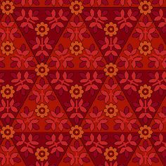 1 Yard of Anthology II Red Mosaic by Color by SistersandQuilters