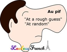 Don't use guesswork - read this lesson to learn how to use the French idiom au pif. French Learning Books, Teaching French, French Expressions, Learning People, Idiomatic Expressions, Teacher Boards, French Teacher, French Words, French Lessons