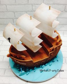 Pirate ship cake by