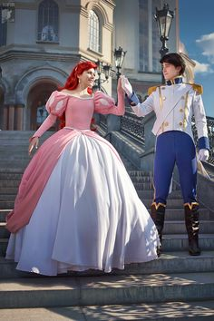 Have my husband and my picture taken with Ariel and Eric
