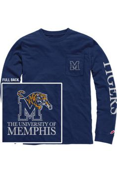 Product: University of Memphis Long Sleeve T-Shirt I WANT THIS