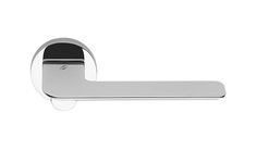 8118 - Colombo Design Slim lever handles on round concealed fixing roses | Allgood