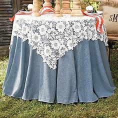 Lace Table Topper **Repinned by www.tuxandveils.com **
