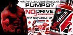 """► PRODOTTO NOVITA' """"NO3 Drive"""" by Prosupps! L'integratore per il PUMP con la formulazione tra le più complete, apprezzatissimo negli States, ora disponibile su Muscle Nutrition al prezzo più basso! Info Prodotto ->http://goo.gl/leiWxq"""