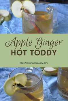 Fall and Winter flavors are in full swing. Beat the Winter cold with this warm adult cocktail, the Apple Ginger Hot Toddy! ramshacklepantry.com #toddy #brandy #apple #ginger via @ramshacklepantr