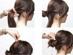 How To: Low Messy Bun