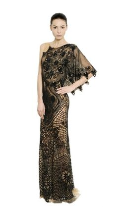 #Crochet and embroidery dress by Zuhair Murad from LuisaViaRoma