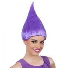 Flame Shape Trolls Amapola Peluca Cosplay Halloween Wig - Purple  None Synthetic Hair