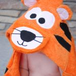 Tiger Hooded Towel Pattern and Tutorial by Crazy Little Projects.  LOTS OF HOODED TOWEL PATTERNS
