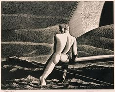 Fair Wind, 1931 by Rockwell Kent on Curiator, the world's biggest collaborative art collection. Rockwell Kent, Digital Museum, Collaborative Art, Male Figure, Wood Engraving, Gay Art, Gravure, Famous Artists, Erotic Art