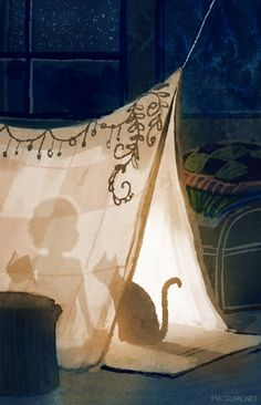 orig. caption Dream Fort by Erin McGuire a magical tent like this would be perfect for a rooftop campout...