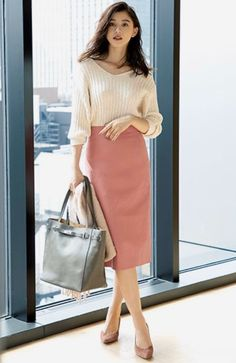 Office Fashion, Work Fashion, Asian Fashion, Modest Fashion, Fashion Outfits, Casual Work Outfits, Professional Outfits, Classy Outfits, Classy Casual