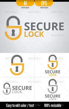 Secure Lock  - Logo Design Template Vector #logotype Download it here: http://graphicriver.net/item/secure-lock-logo-template/3101897?s_rank=983?ref=nesto