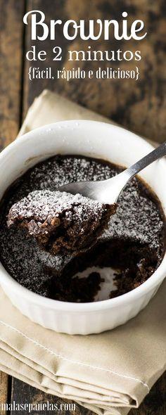 Brownie de 2 Minutos | Malas e Panelas