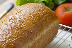 Here's a wonderful Cracked Wheat sandwich bread. This bread is perfect for toasting in the morning or a sandwich for lunch. When we finished baking and then taking photos of this bread, both Angela and I, had to make a toasted BLT sandwich out of it.