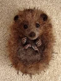 Image result for needle felted hedgehog pin