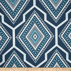 "New Premier Prints GITA Navy/Coastal Blue  54"" wide-Fabric by the Yard decorator fabric FAST SHIPPING"