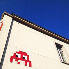Interesting one by guillaume750x #spaceinvader #unas (o) http://ift.tt/2c3Y608 | Space Invader @ Seine Saint-Denis   #invaderwashere #invader #streetart #streetartparis #seinesaintdenis