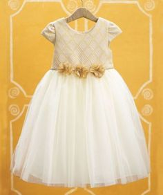 brocade tulle girls party dress