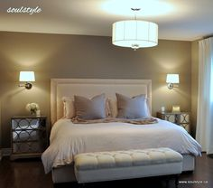 Upholstered Headboard ... I kind of love the simplicity of this one.