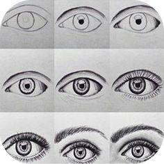 hur målar man ögon