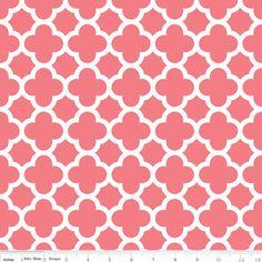Riley Blake Designs - Quatrefoil - Quatrefoil Medium in Coral