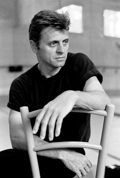 Mikhail Baryshnikov in dance studio. Photo by Ferdinando Scianna. White Oak plantation, Florida, 1993