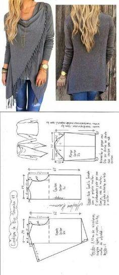 Cardigan Schnittmuster [kostenlos}: | nähen | Pinterest | Sewing ...