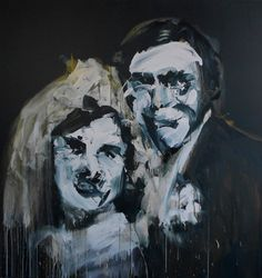 "Saatchi Art Artist Miroir Noir; Painting, ""Bride Series: Marriage vert // SOLD"" #art"