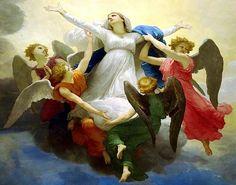 William Adolphe Bouguereau, (1825-1905): La asunción de la Virgen, 1875.