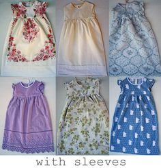 Pillowcase Dress with links to different tutorials