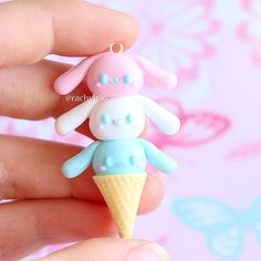 Hi everyone! Here is a Cinnamoroll ice-cream cone! Cinnamoroll is a little bunny (puppy as a now know ) character made by Sanrio. I made one of these back when I first started clay and recently decided to do a remake Hope you like it! ✌ #polymerclay #polymer #clay #cute #kawaii #bunny #sanrio #cinnamoroll ##polymerclaycharms #art #craft #handmade #sculpey #fimo #premo #pastel