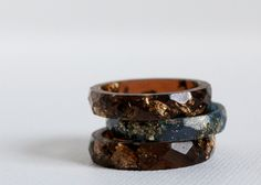 tiger eye size 7.5 multifaceted eco resin ring. $20.00, via Etsy.