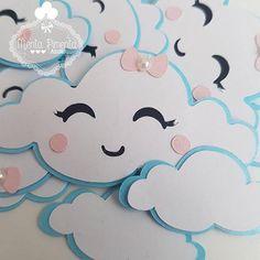 regalos para parejas #regalosparaparejas Birthday Balloons, Birthday Party Themes, Cloud Party, Rainbow First Birthday, Cloud Craft, Paper Flower Decor, Adoption Party, Baby Shawer, Diwali Gifts