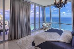Elegant High-Rise Glass Penthouse in Sunny Isles, Florida.