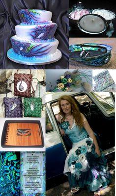 DIY Wedding Crafts: Paua (Abalone) Wedding Theme Board