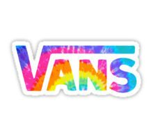 Rainbow Vans Sticker