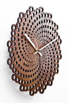 ✔ Measures: / ✔ Color: oak ✔ Minimalistic design ✔ Handmade from first-class tree species. Wall Clock Wooden, Wood Clocks, Wooden Walls, Clock Wall, Big Wall Clocks, Diy Clock, Clock Decor, Diy Wall Decor, Wooden Diy