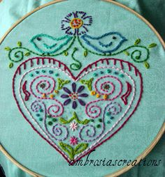 Ambrosia's Collections - embroidery tutorial