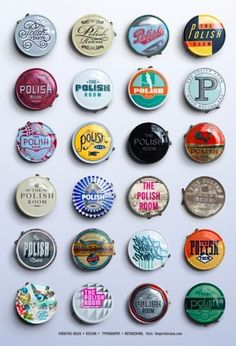 I like the idea of badges as they are easy to carry and easy to create and would be cheap to make. There could be different illustrations on all the badges and use a mixture of different pantones.