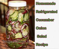 Homemade Refrigerated Cucumber Onion Salad Recipe - Homesteading  - The Homestead Survival .Com