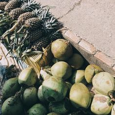 #marketfood #tropicalfruit #fruit #coconut #pineapple #fresh #thegreenies #underworld #underthesun #sunshine #natural #beautyofnature #journey #explore #thesouthpoleofvietnam #camaucape #dailylife #firsttripofmy23 #camau #VSCO #cóquảdừatonhưnồicơmđiện by daubutocroi