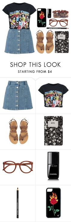 """""""I'm back!!"""" by ritamartinho69 ❤ liked on Polyvore featuring Miss Selfridge, Valia Gabriel, Design Letters, Chanel, NYX and John-Richard"""